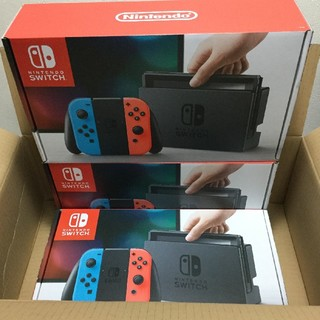 新品 3台セット Nintendo switch 本体 ネオン 送料込(家庭用ゲーム本体)