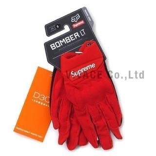 シュプリーム(Supreme)のSupreme Fox Racing Bomber LT Gloves 赤S(手袋)