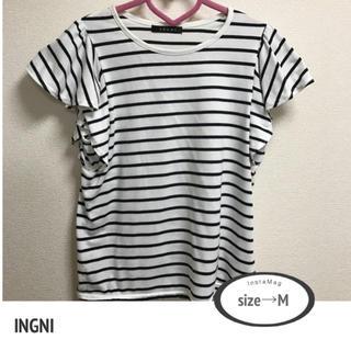イング(INGNI)のINGNI ボーダーフリルTシャツ♡(Tシャツ(半袖/袖なし))