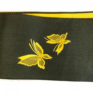 新品 ⭐️ 未使用 リバーシブル  半幅帯 蝶々 黒 黄色 祭 浴衣 花火 着物(浴衣帯)
