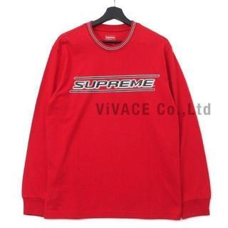シュプリーム(Supreme)のSupreme Bevel L/S Top 赤M(Tシャツ/カットソー(七分/長袖))