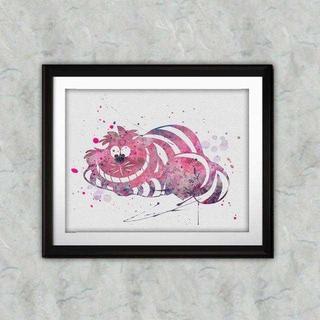 ディズニー(Disney)のチェシャ猫(不思議の国のアリス・アリスインワンダーランド)アートポスター(ポスター)