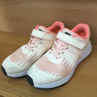 ナイキ(NIKE)のナイキ 21 キッズ スニーカー ピンク シューズ 運動靴 21.5 20.5(スニーカー)