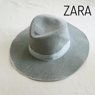 ザラ(ZARA)のZARA 切りっぱなし加工 ハット 帽子(ハット)