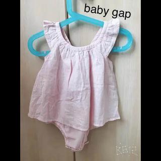 ベビーギャップ(babyGAP)の❣️これからの季節に【新品タグ付き】baby gap ロンパース 80cm(ロンパース)