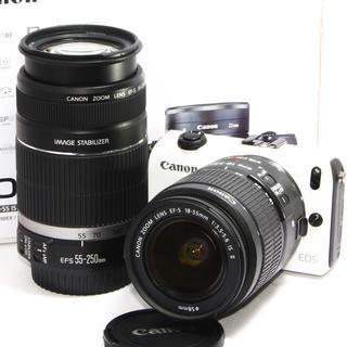 キヤノン(Canon)のお買い得セット❤️Canon EOS M ホワイト ダブルズームキット♪(ミラーレス一眼)