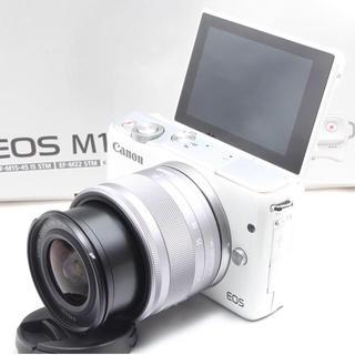 キヤノン(Canon)の❤️人気のホワイト Wi-Fi&自撮り❤️Canon EOS M10レンズキット(ミラーレス一眼)