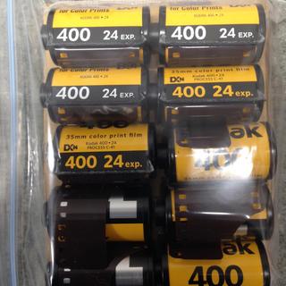 カメラフィルム 35mm コダックASA400 24枚撮り 10本 送料込み(フィルムカメラ)