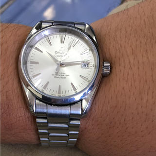 オメガ(OMEGA)の本物 オメガ omega seamaster アクアテラ コーアクシャル(腕時計(アナログ))