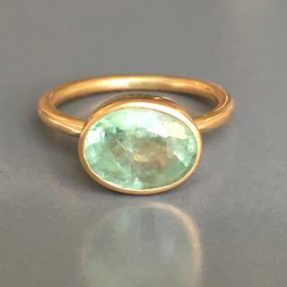 MDKさま 専用ページ 発光エメラルド k18 ゴールドリング (リング(指輪))