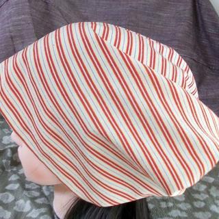 贅沢 特大 64 キュート 粋な 縞織り キャップ 帽子 室内帽子(その他)