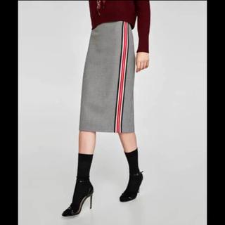 ザラ(ZARA)の新品♡ZARA ライン タイトスカート(ひざ丈スカート)