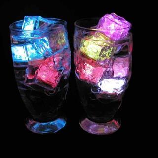 アイスライト キューブアイス キューブライト 光る氷 LEDセンサーライト12個(その他)