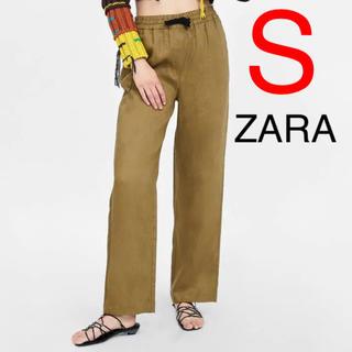 ザラ(ZARA)のZARA  リボン付きリネンパンツ(カジュアルパンツ)