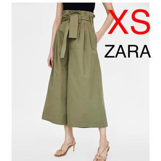 ザラ(ZARA)のZARA  リボン付き ポプリンパンツ(カジュアルパンツ)