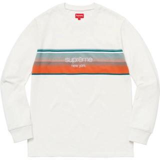 シュプリーム(Supreme)のSupreme shadow stripe s 白(Tシャツ/カットソー(七分/長袖))