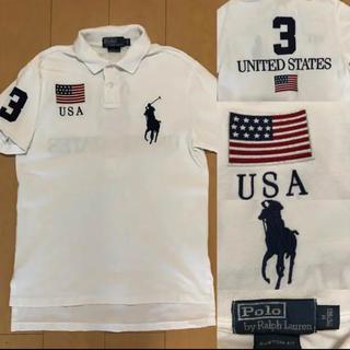 ラルフローレン(Ralph Lauren)のRalph Lauren ラルフローレン ビックポニー 白 ポロシャツ アメリカ(ポロシャツ)