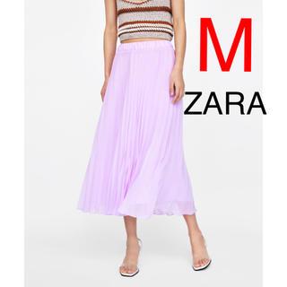 ザラ(ZARA)のZARA  プリーツスカート シフォン(ひざ丈スカート)