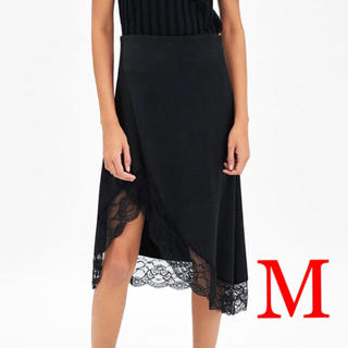ザラ(ZARA)のお値段以上の満足❗️ZARA 新品 サテンスカート(ひざ丈スカート)