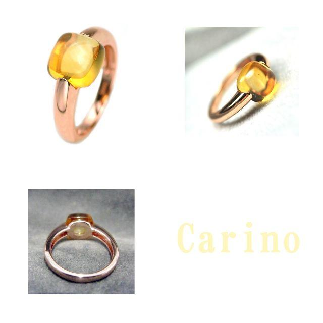 丁寧な作り ぽってり シトリン 天然石 リング 9 10 11 12 13 号  レディースのアクセサリー(リング(指輪))の商品写真