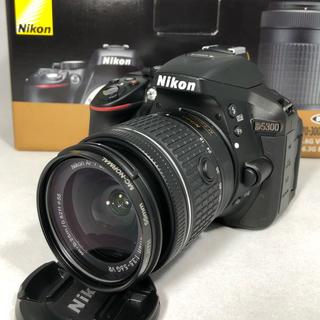 ニコン(Nikon)のNikon D5300 最新AF-P 18-55 レンズKIT 美品 保証残アリ(デジタル一眼)