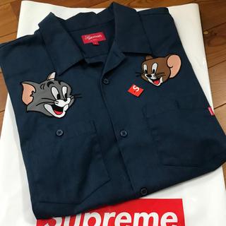 シュプリーム(Supreme)の込 希少L supreme tom&jerry work shirt 半袖シャツ(シャツ)
