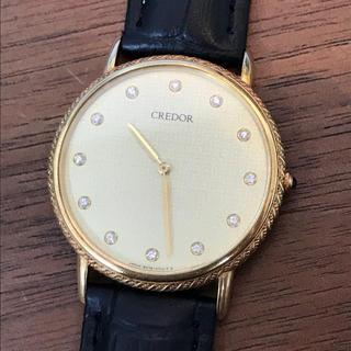 セイコー(SEIKO)のセイコー クレドール 18KT 5A74-0430 金無垢 腕時計(腕時計(アナログ))