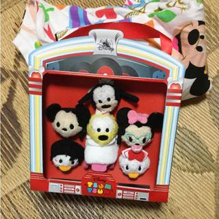 ディズニー(Disney)の日本未発売 ミッキー 豆ツムツム ぬいぐるみ プルートドナルド デイジー (ぬいぐるみ)