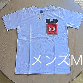 ディズニー(Disney)のミッキー  ポケット Tシャツ メンズ M 新品未使用 タグつき(Tシャツ/カットソー(半袖/袖なし))