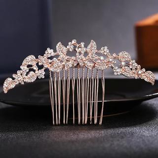 ヘアコーム キラキラダイヤ 洋装 ヘアアクセサリー ウェディング(その他)