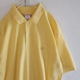 ブルックスブラザース(Brooks Brothers)のUS ブルックス ブラザーズ Yellow 半袖 ポロシャツ M(ポロシャツ)