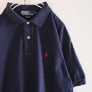 ポロラルフローレン(POLO RALPH LAUREN)のUS ポロ ラルフローレン navyred2 半袖 ポロシャツ M(ポロシャツ)