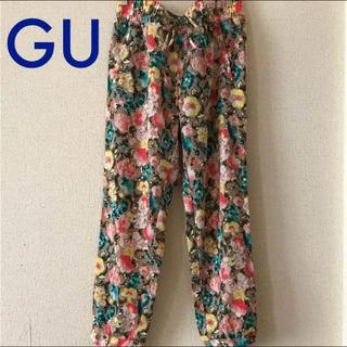 ジーユー(GU)の花柄パンツ L✧ルームパンツ✧リラックスパンツ(カジュアルパンツ)