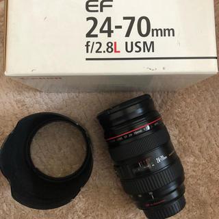 キャノン  Canon 24-70 2.8L 高級レンズの箱付き(レンズ(ズーム))
