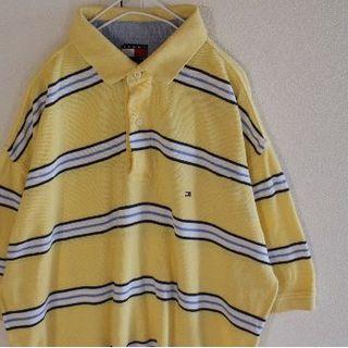 トミーヒルフィガー(TOMMY HILFIGER)のUS トミーヒルフィガー Yellowbkwhbl 半袖 ポロシャツ XL(ポロシャツ)