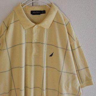 ノーティカ(NAUTICA)のUS ノーティカ チェック Yellow 半袖 ポロシャツ XL(ポロシャツ)