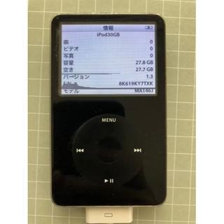 Apple iPod classic 30GB ブラック 第5世代 復元初期化済(ポータブルプレーヤー)