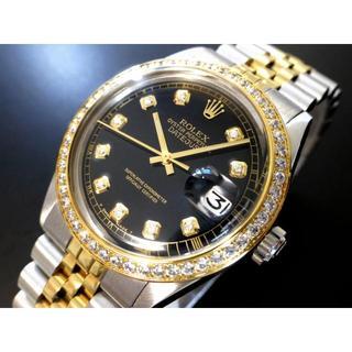 デッドストック級◆ロレックス デイトジャストダイヤ R1601 本物保証(腕時計(アナログ))