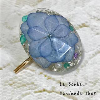 Iced flower紫陽花③ ポニーフック ヘアカフス (その他)