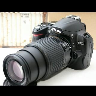 ニコン(Nikon)の大人気のエントリー機でWi-Fi対応♪ニコン D3000 レンズセット♪(デジタル一眼)