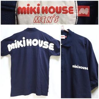 ミキハウス(mikihouse)のMIKI HOUSE MENS 胸&バックロゴプリント入り ポロシャツ(ポロシャツ)