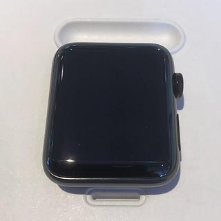 アップルウォッチ(Apple Watch)のApple Watch series3 42mm ブラックステンレス セルラー(腕時計(デジタル))