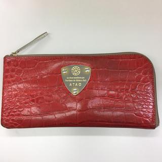 アタオ(ATAO)のATAO アタオ リモガリバー クロコタッチ バレンシアレッド 長財布(財布)