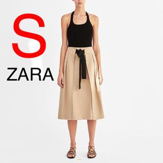 ザラ(ZARA)の新品 ZARA スカート プリーツスカート リボン(ひざ丈スカート)