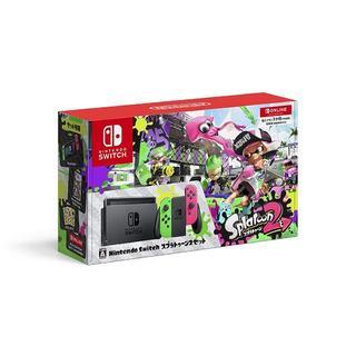 ニンテンドースイッチ(Nintendo Switch)の新品 ニンテンドースイッチ 本体 スプラトゥーン2セット(家庭用ゲーム本体)