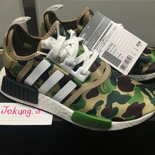 アディダス(adidas)のAdidas NMD x Bape green 23.5 国内正規品 新品未使用(スニーカー)