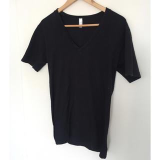 American apparel VネックTシャツ