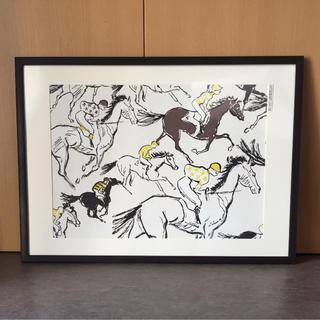 エルメス(Hermes)のエルメス HERMES 壁紙【フィニッシュ柄 ホワイト】特大サイズ(アート/写真)