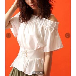 アンデミュウ(Andemiu)のアンデミュウ ♡ ベルト付きオフショルブラウス(シャツ/ブラウス(半袖/袖なし))