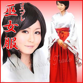 コスプレ 巫女服 和服 着物 衣装 3224-3227(衣装一式)